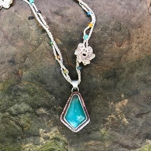 Peruvian opal pendant and necklace